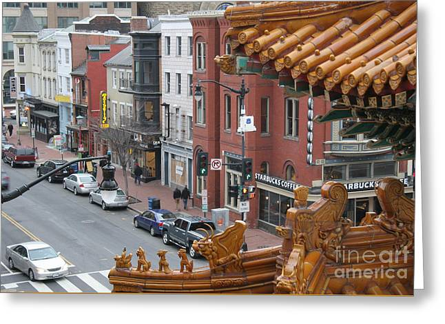 The View From Chinatown Greeting Card by Clay Cofer