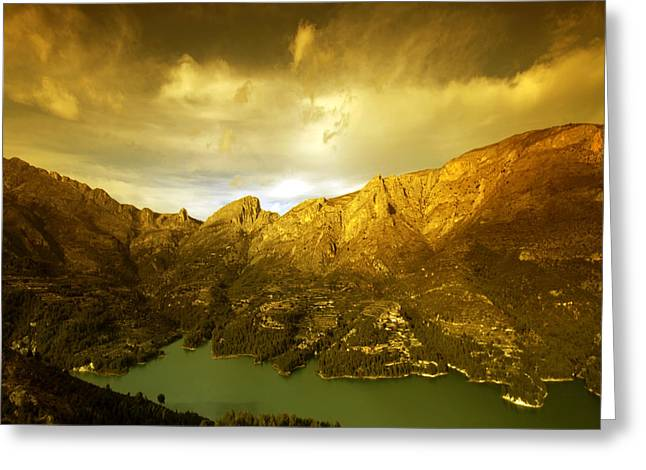 the view from Guadalest Greeting Card by Angel  Tarantella