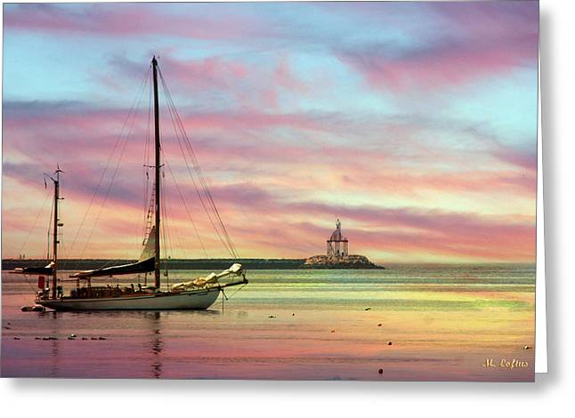 The View From Rocky Neck Greeting Card