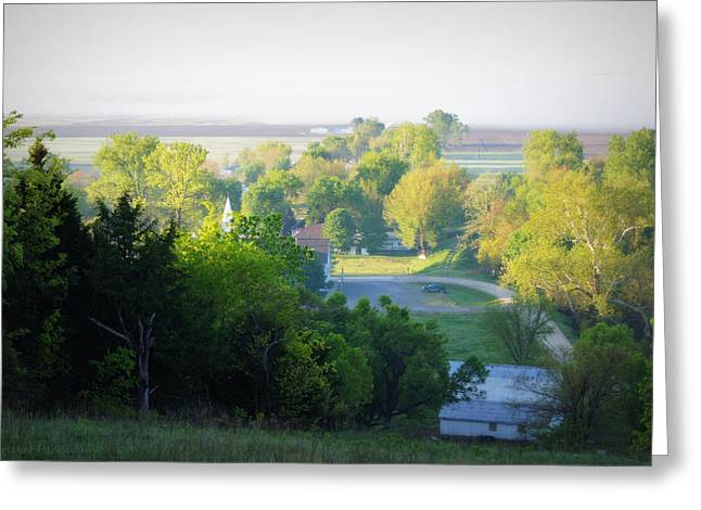The View From The Hill Greeting Card
