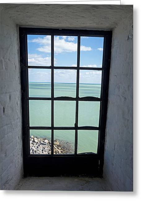 The View From The Lighthouse Window Bill Baggs Lighthouse Key Biscayne Florida Greeting Card by Toby McGuire