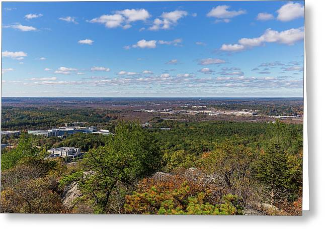 The View From The Summit Of Great Blue Hill Greeting Card