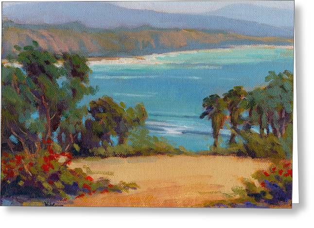 Greeting Card featuring the painting The View by Konnie Kim