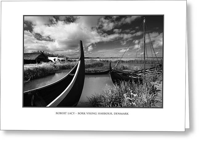 The Viking Harbour At Bork Greeting Card by Robert Lacy