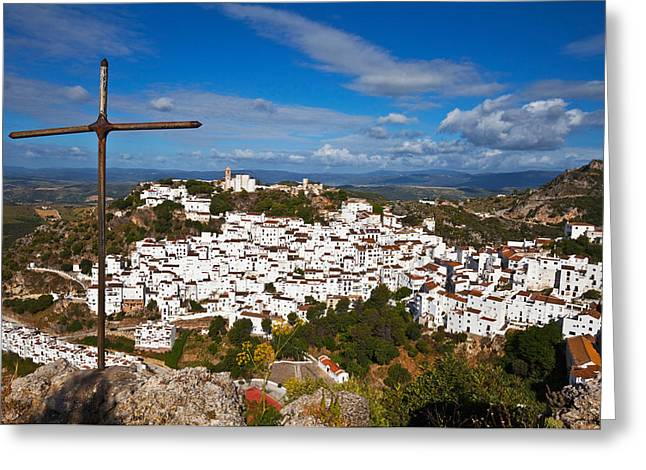 The Village Of Casares, Malaga Greeting Card