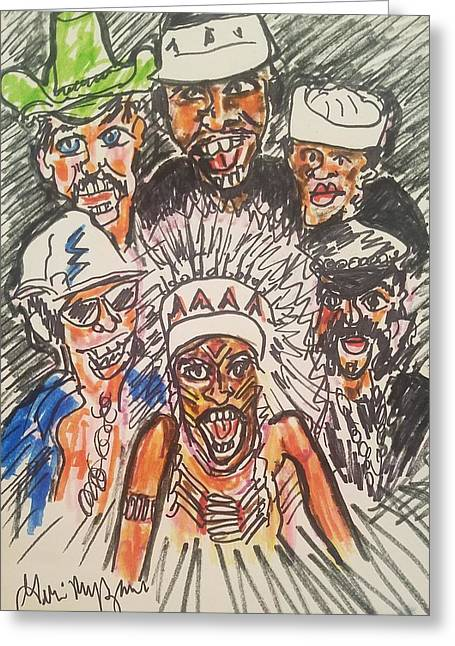 The Village People Greeting Card