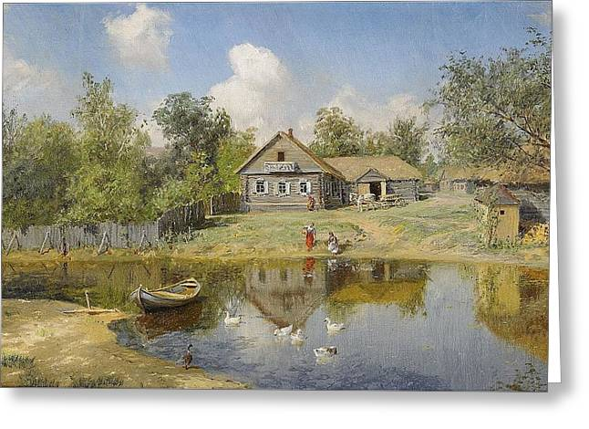 The Village Pond Greeting Card