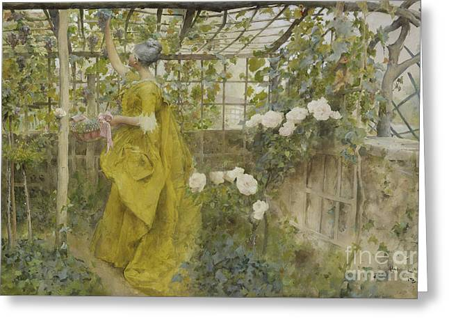 The Vine, 1884 Greeting Card by Carl Larsson