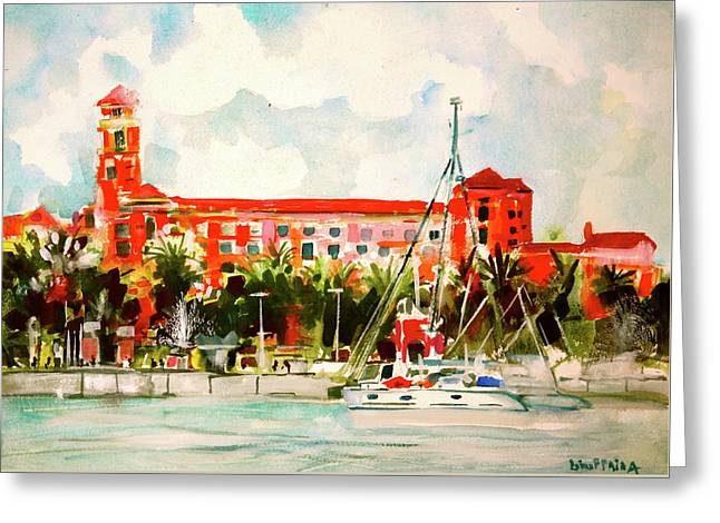 The Vinoy Hotel St. Petersburg, Florida Greeting Card by Joseph Giuffrida