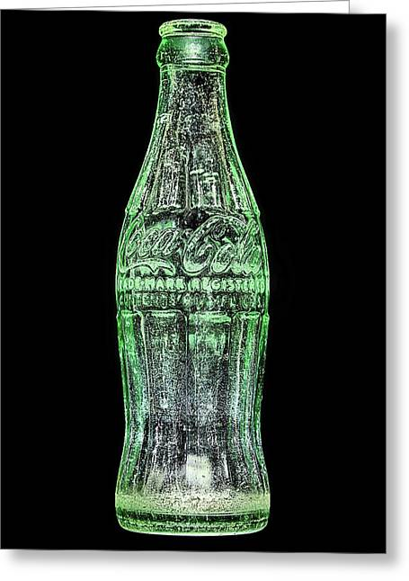 The Vintage Coke Bottle Greeting Card by JC Findley