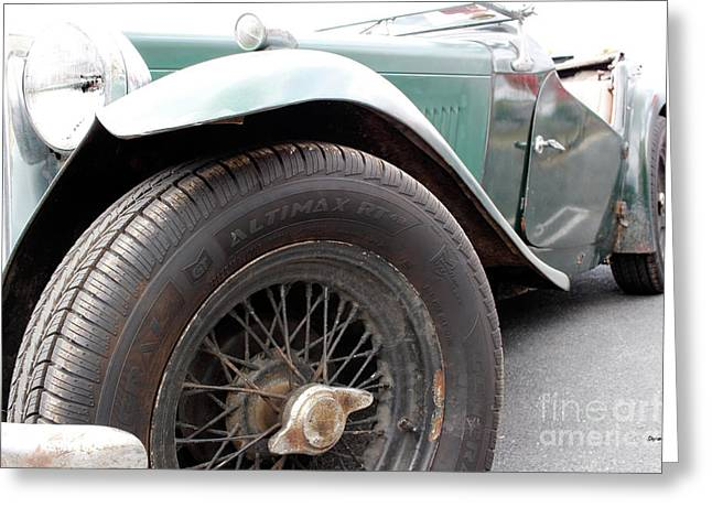 The Vintage Mg  Greeting Card by Steven Digman