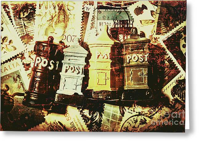 The Vintage Postage Card Greeting Card