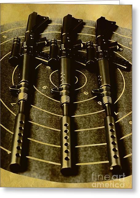 The Vintage Sniper Rifle Range Greeting Card
