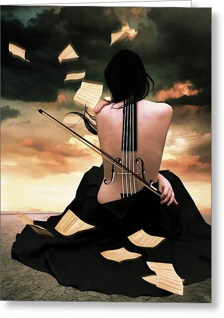 The Violin Song Greeting Card