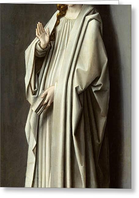The Virgin Annunciate Greeting Card by Gerard David