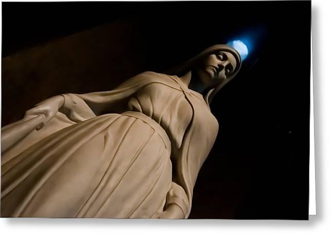 The Virgin Mary Greeting Card by Joe Houghton