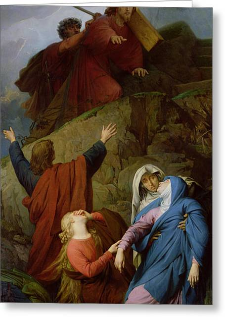 The Virgin Of Calvary Greeting Card