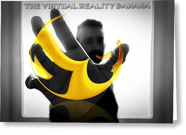 The Virtual Reality Banana Greeting Card