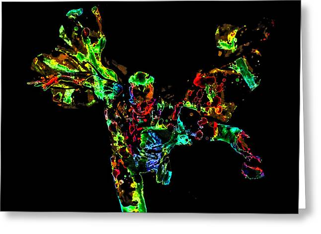 The Vision Paint Splatter Greeting Card by Brian Reaves