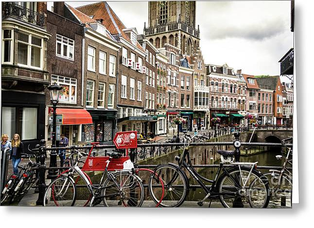 Greeting Card featuring the photograph The Vismarkt In Utrecht by RicardMN Photography