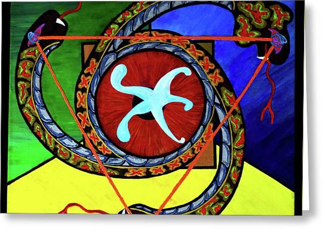 The Vitruvian Serpent Greeting Card
