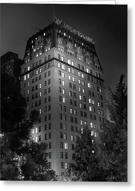 The W In Union Square Greeting Card by Mark Andrew Thomas