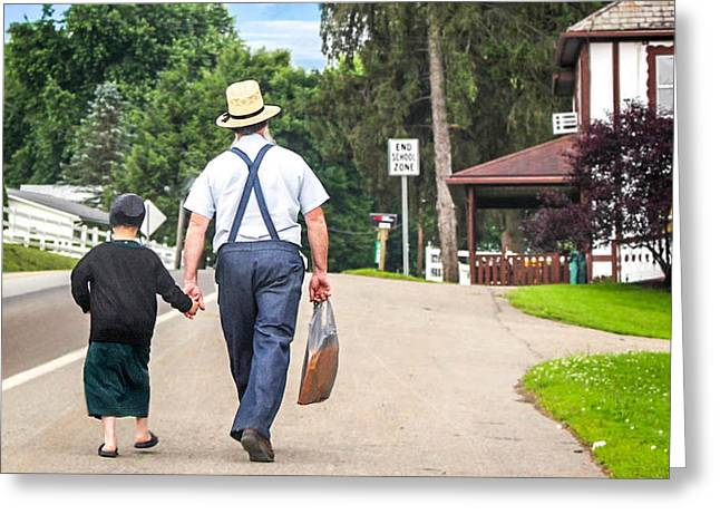 The Walk Home Greeting Card by Judy Baird