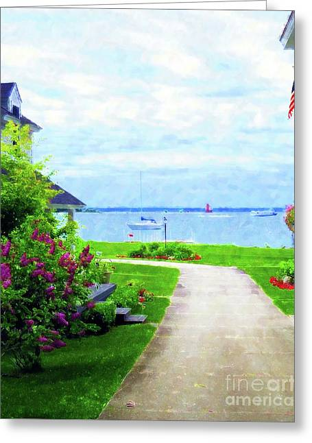 The Walk To The Water Greeting Card by Desiree Paquette