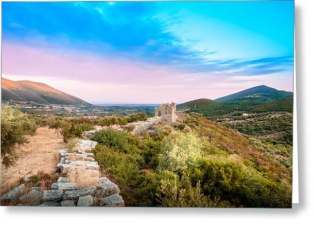 The Walls Of Ancient Messene - Greece. Greeting Card by Stavros Argyropoulos