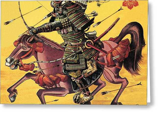 The War Lords Of Japan Greeting Card by Dan Escott