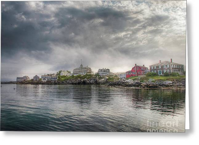 Monhegan Harbor View Greeting Card