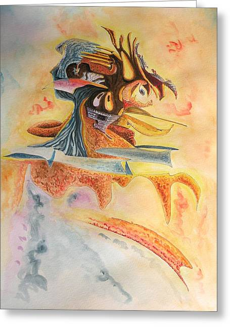 The Warrior Greeting Card by Dave Martsolf