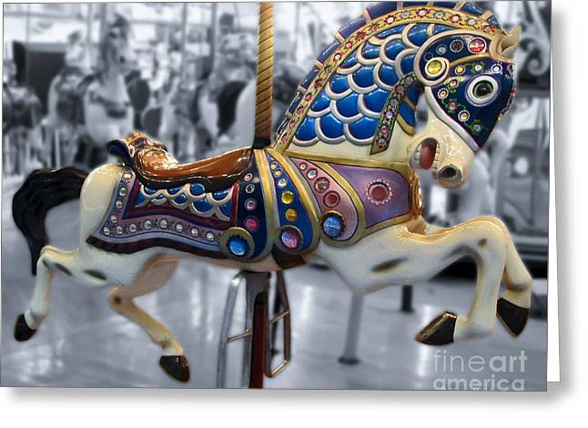 The Warrior Steed Greeting Card by Colleen Kammerer