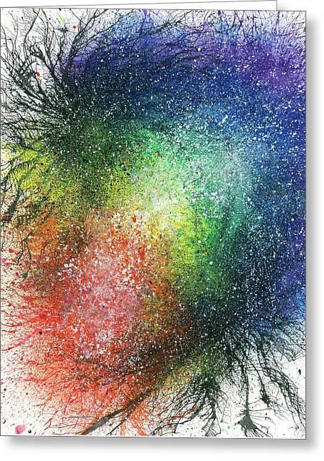 The Warriors Of The Rainbow #697 Greeting Card by Rainbow Artist Orlando L aka Kevin Orlando Lau