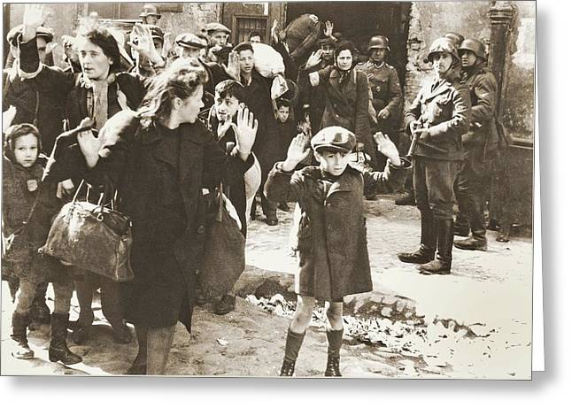 The Warsaw Ghetto Uprising Number 1 1943 Greeting Card