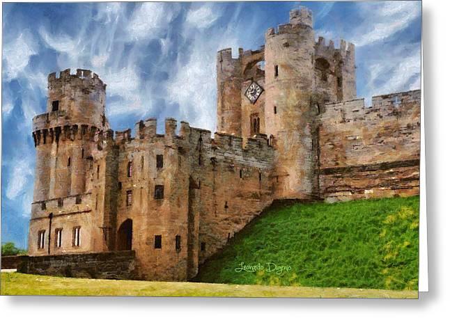The Warwick Castle - Da Greeting Card by Leonardo Digenio