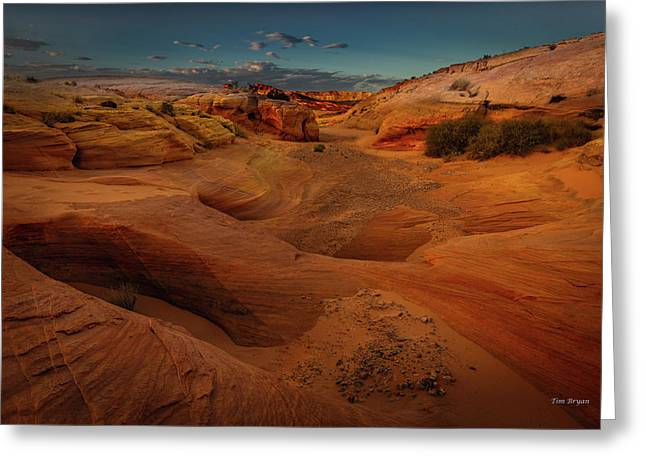 Greeting Card featuring the photograph The Wash Of Subtle Shapes And Colors by Tim Bryan