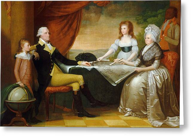 The Washington Family Greeting Card by Edward Savage