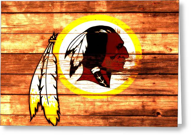 The Washington Redskins 3a Greeting Card