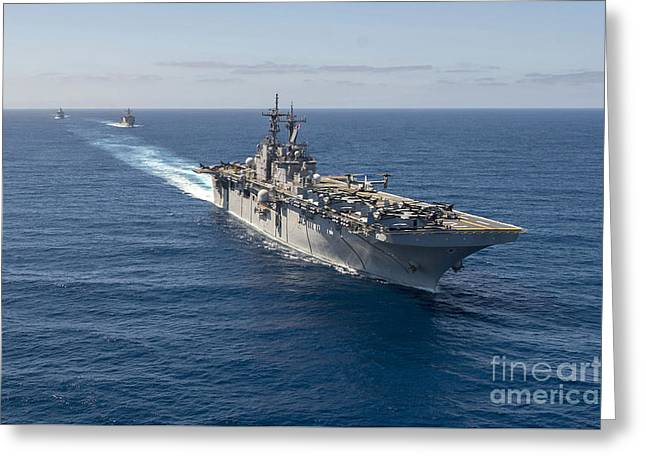 The Wasp-class Amphibious Assault Ship  Greeting Card by Celestial Images
