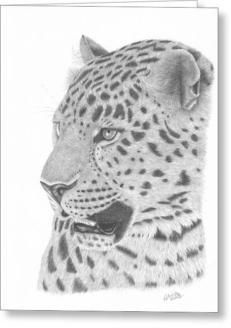 The Watchful Leopard Greeting Card