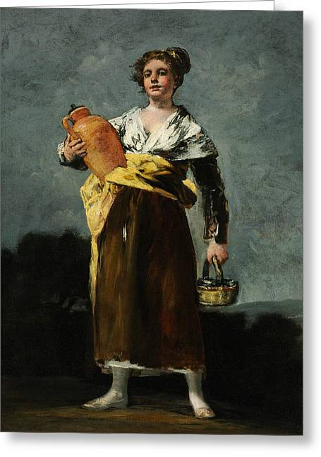 The Water Carrier  Greeting Card by Francisco Goya