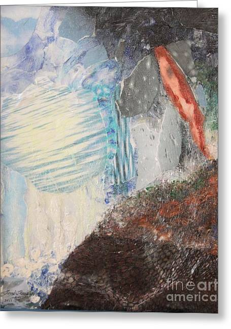 Greeting Card featuring the painting The Water Cycle by Terri Thompson