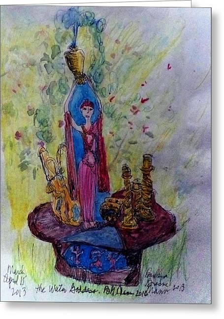The Water Goddess Greeting Card