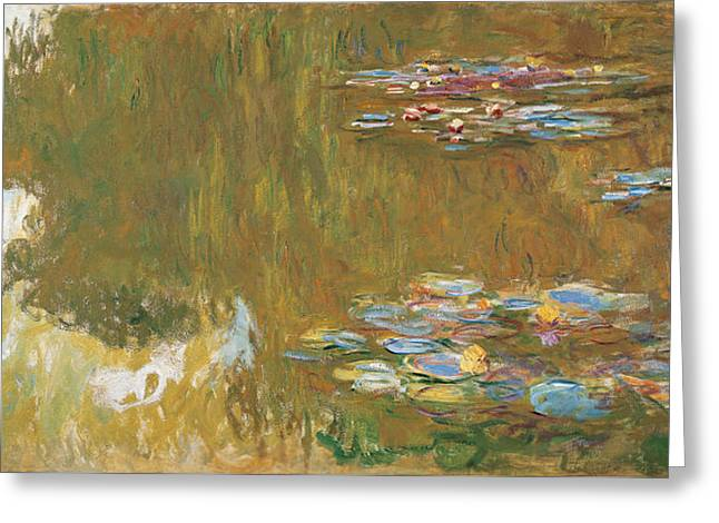 The Water Lily Pond, 1917-1919 Greeting Card
