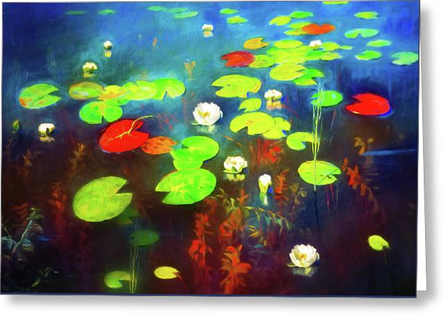 The Water Lily Pond Greeting Card by Georgiana Romanovna