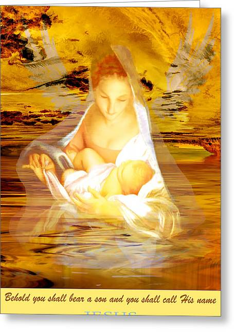 Greeting Card featuring the painting The Water Of Life by Valerie Anne Kelly