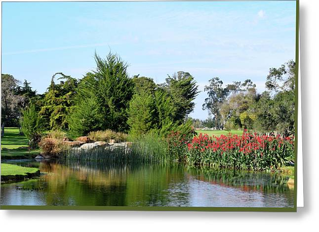Greeting Card featuring the photograph The Water On Number One Santa Maria Country Club by Barbara Snyder