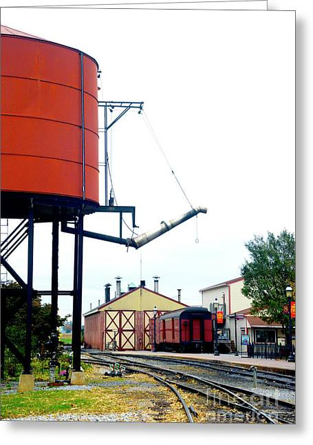 Greeting Card featuring the photograph The Water Tower by Paul W Faust - Impressions of Light