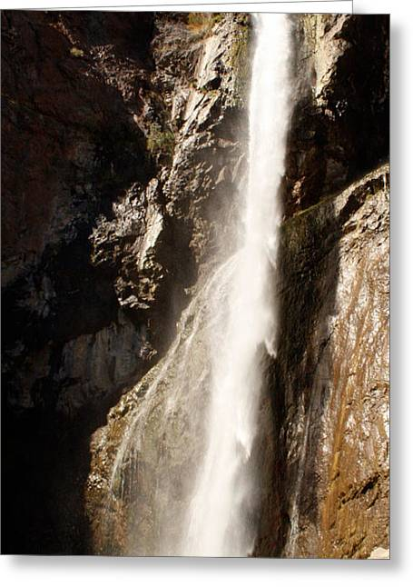 The Waterfall Greeting Card by Winona Steunenberg